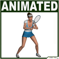 tennis female 3d model