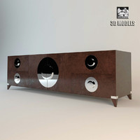 3d moon chest drawers model