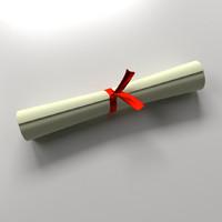 scroll 3d 3ds