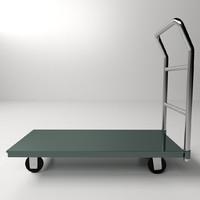 3d platform hand truck model