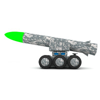 Single rocket launcher wooden toy