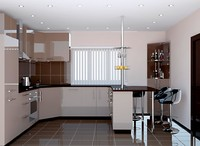 Kitchen Furniture Brown