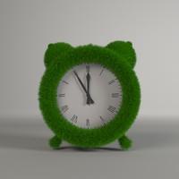 grass clock 3d model