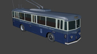 fbw bbc trolleybus 3d model