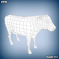 base mesh cow 3d model