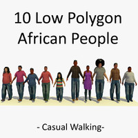 african walking characters 3ds