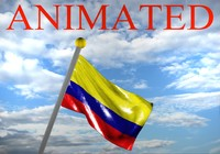 colombia flag 3d max