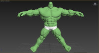 3ds max fully rigged hulk