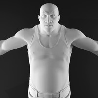 3d afro-american man character model