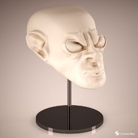 alien head sculpt 3d max
