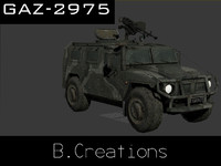 gaz-2975 3d model