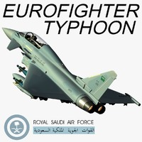 eurofighter typhoon 3d model