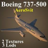 boeing 737-500 aew 3d max