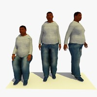walking fat male 3d 3ds