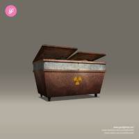 3d model of steel dumpster