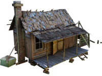 3d old village house