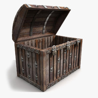 crate wooden 3d 3ds