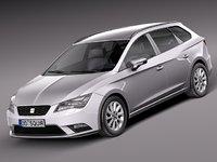 3d model 2014 seat leon