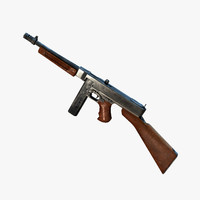 real-time thompson gun 1928 3d model