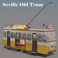 3d max old tram seville