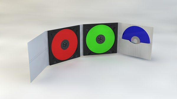 cd dvd folding sleeve 3d model - Folding CD/DVD Sleeve... by 3a2a