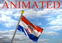 3d croatia flag model