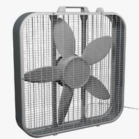 3d model box fan