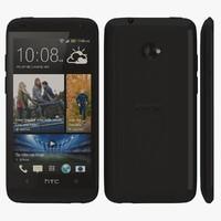 3d htc desire 601 black model