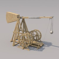 3d model of medieval mangonel