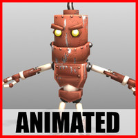 3d cute robot animations model