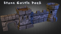 medieval castle pack 3d obj