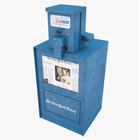 3d new box newspaper