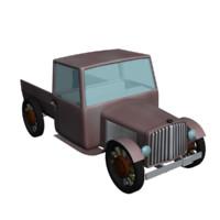 3d model old 1930 s truck