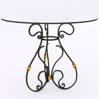 3d iron table wrought