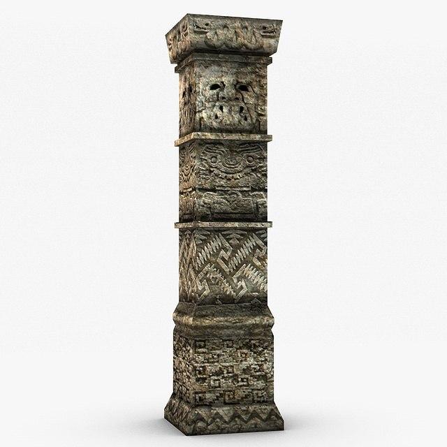 Ancient Stone Pillars : D model ancient stone column