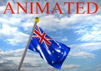 3d model australia flag australian