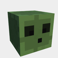 free 3ds mode slime minecraft uv-mapped