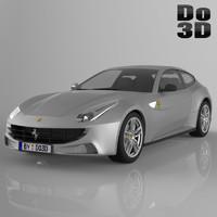 3d model ferrari ff 2013