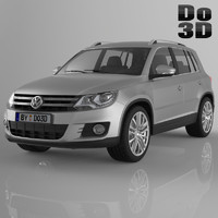 tiguan 2013 volkswagen 3d model