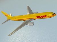 3ds max b 767-300 er dhl
