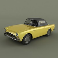 sunbeam alpine series 4 3d model
