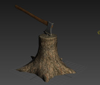 Tree Axe - Low Poly Ready for Game