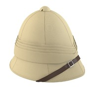 3d model of british pith helmet