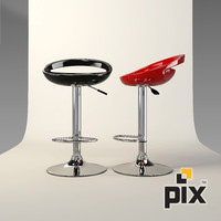 Plastic Bar Stool Chrome Leg