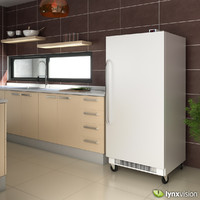 commercial upright freezer 3d model