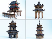 3d chinese housed model