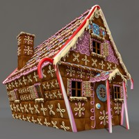 fable cottage 3d c4d