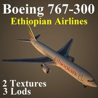 boeing 767-300 eth 3d model
