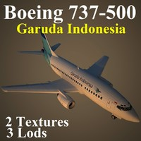 boeing 737-500 gia 3d max