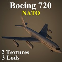 3ds max boeing 720 nat